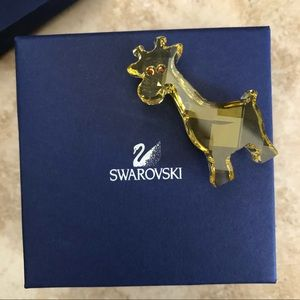 Swarovski yellow giraffe crystal